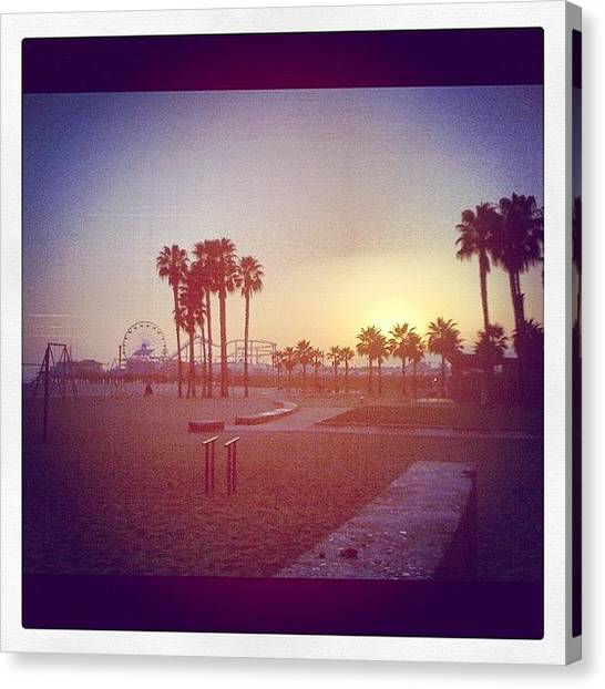 Santa Monica Pier Canvas Print - Santa Monica by Alison Williams