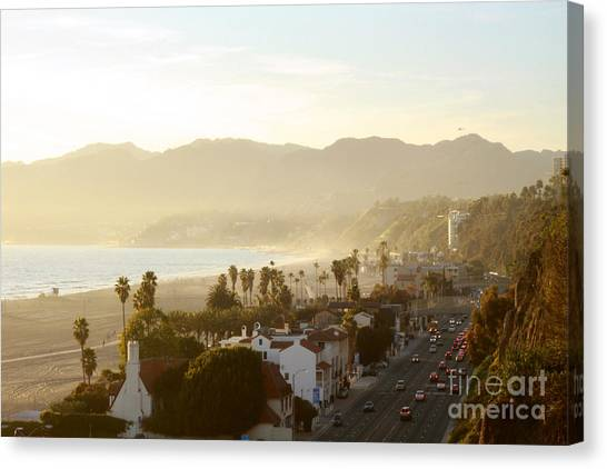 Santa Monica Beach Canvas Print by Yulia Bekar