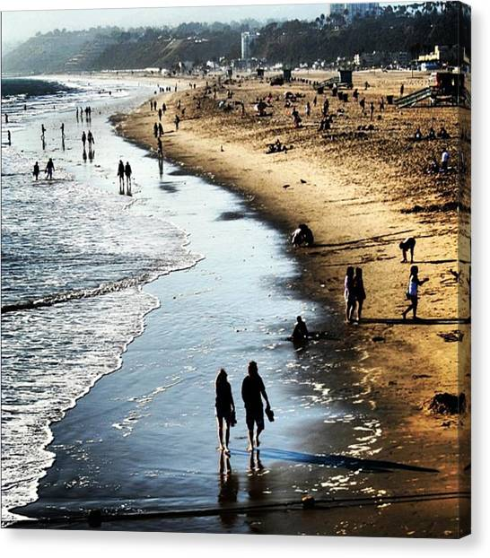 Seas Canvas Print - Santa Monica by Luisa Azzolini