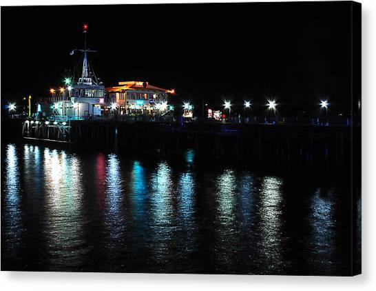 Santa Monica Pier After Dark Canvas Print by Yulia