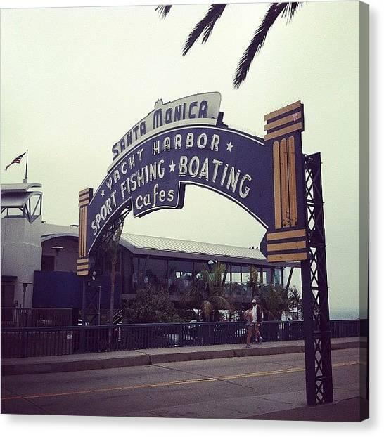 Santa Monica Canvas Print - Santa Monica Pier by Erin Egan