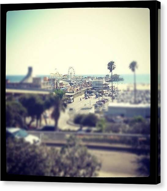 Santa Monica Canvas Print - Santa Monica Pier by Tonya Bonya Lasagna