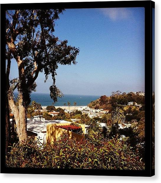 Santa Monica Canvas Print - Santa Monica View by Lana Rushing
