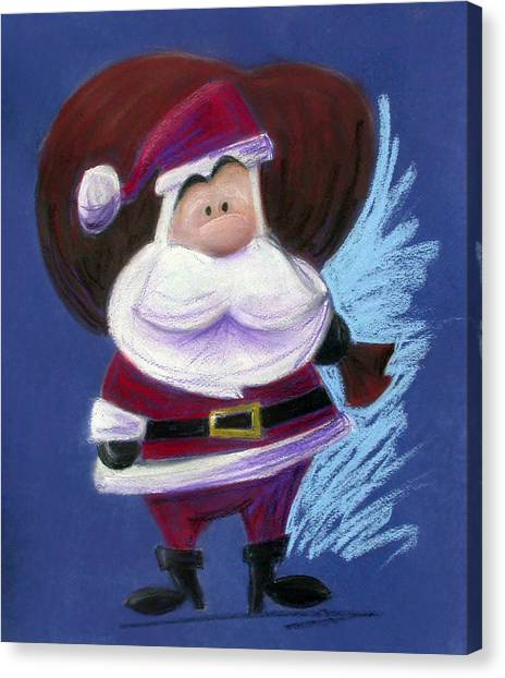 Santa Claus Canvas Print - Santa With His Pack by Andrew Fling