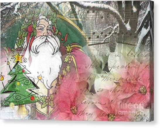 Santa's Snow Garden Canvas Print