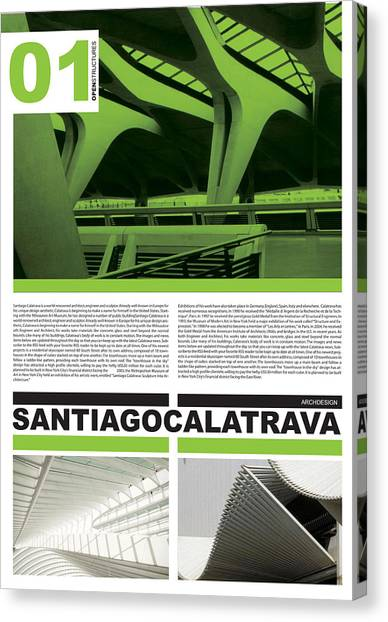 Philosophy Canvas Print - Santiago Calatrava Poster by Naxart Studio