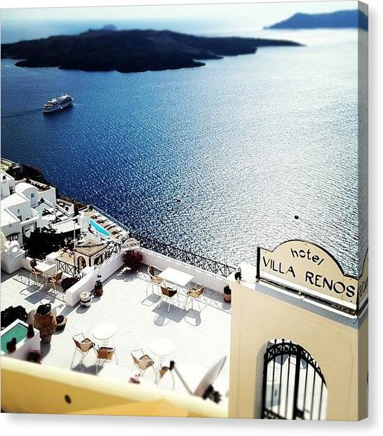 Greece Canvas Print - #santorini #greece #island #thira #oia by Free Spirit