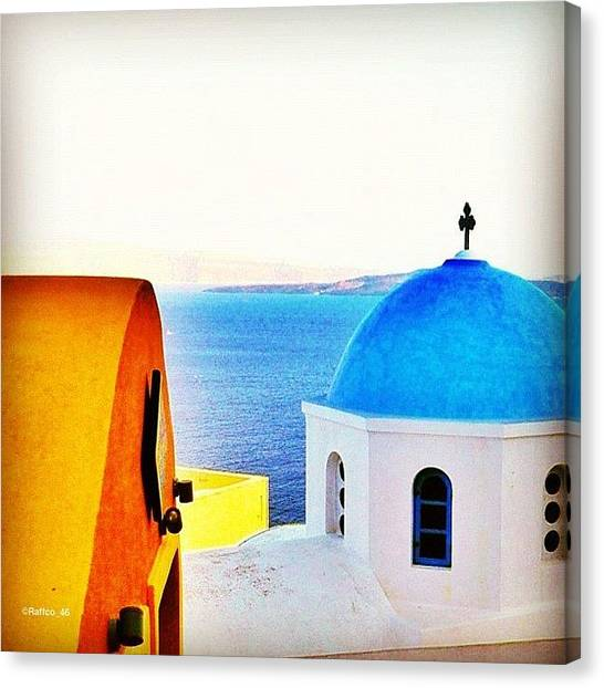 Greece Canvas Print - Santorini Magic!! #greece #iphonesia by Raffaele Salera