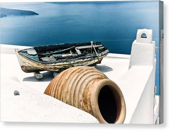 Santorini Still Life Canvas Print by Scott Massey