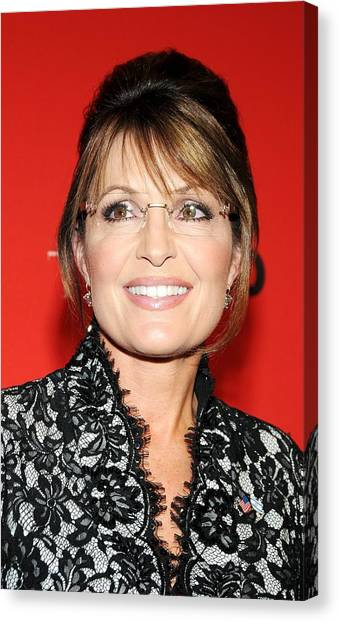 Sarah Palin Canvas Print - Sarah Palin At Arrivals For Time 100 by Everett