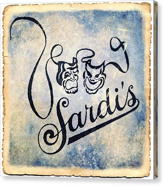 Restaurants Canvas Print - Sardi's by Natasha Marco