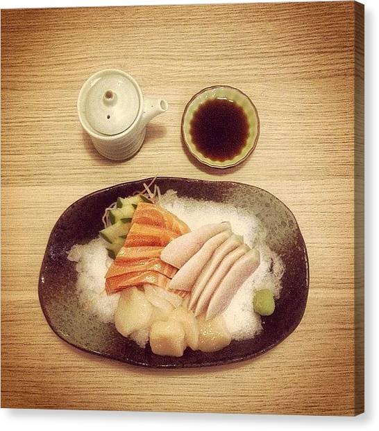 Swordfish Canvas Print - #sashimi #salmon #scallop #hotate by Jerry Tang