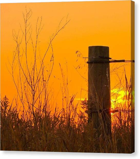 Prairie Sunrises Canvas Print - #saskatchewan #prairie #sunrise by Michael Squier