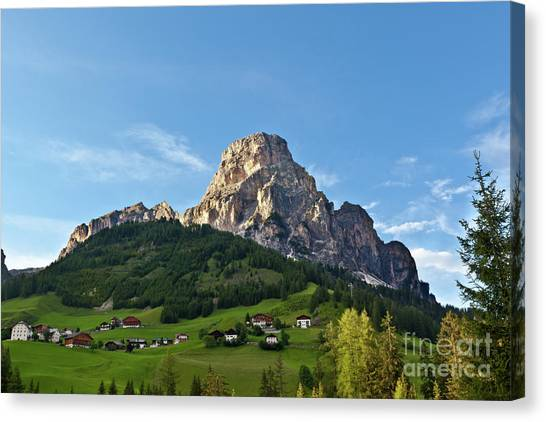 Sassongher Tirol Northern Italy Canvas Print