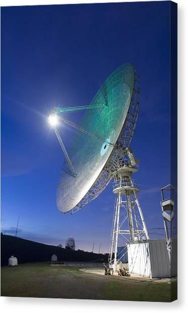 Satellite Tracking Antenna Dish Canvas Print by Everett
