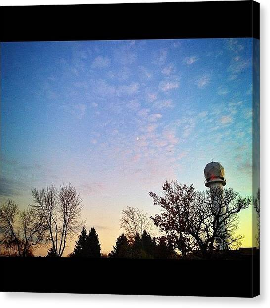 Satellite Canvas Print - #satellite, #trees, And #moon At by Mike S