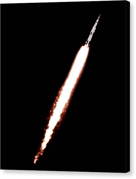 Saturn 5 Test Launch Canvas Print by Nasa