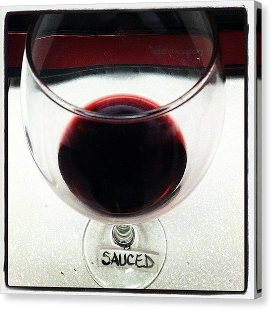 Red Wine Canvas Print - Sauced by Rose Champagne