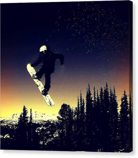 Snowboarding Canvas Print - Saudade! @whistlerblackcomb by Fabio Meirelles