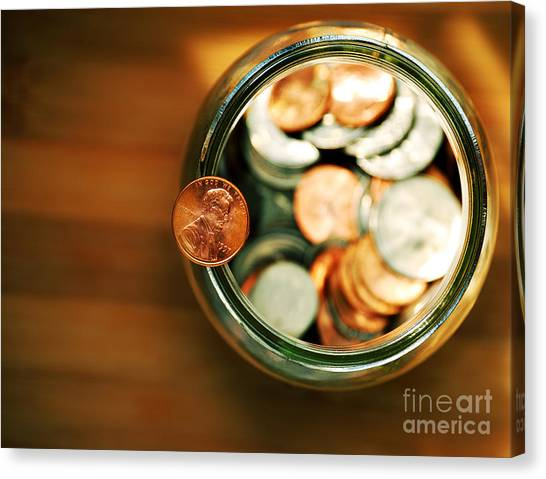 Currency Canvas Print - Save by HD Connelly