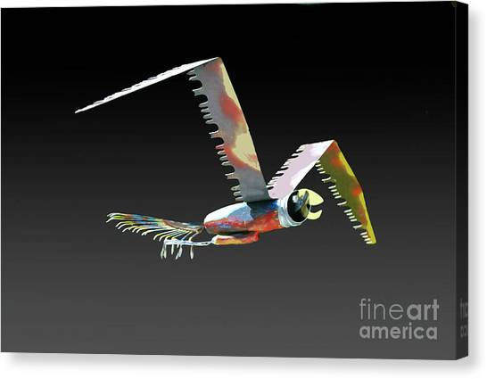 Saw Bird Canvas Print