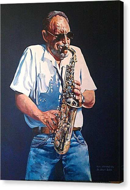Saxophone Canvas Print