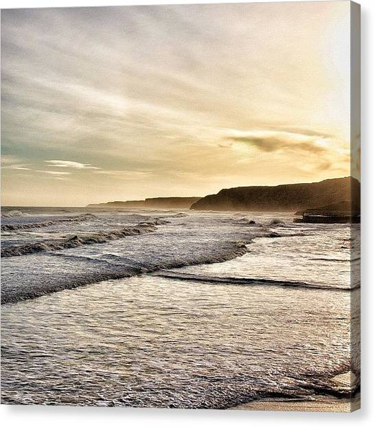 Beach Sunrises Canvas Print - Scarborough Beach In The Morning by Shelley Walsh