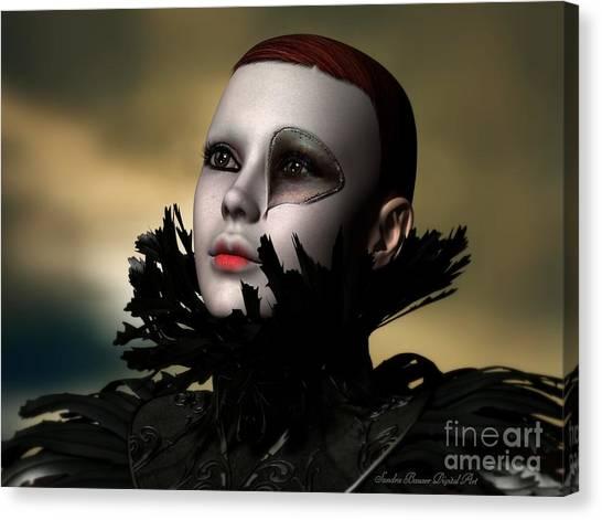 Scarred Beauty Canvas Print by Sandra Bauser Digital Art