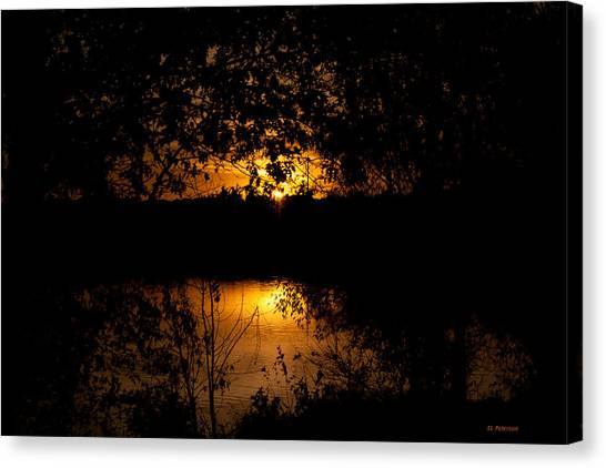 Canvas Print featuring the photograph Scary Sunset by Edward Peterson