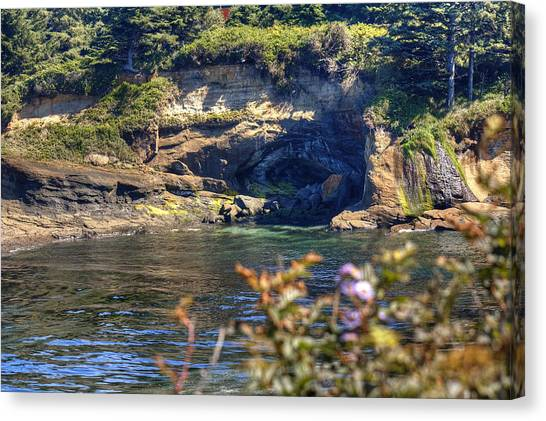 Scene At Boiler Bay Canvas Print by Chris Anderson