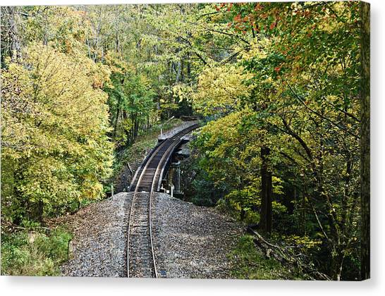 Scenic Railway Tracks Canvas Print