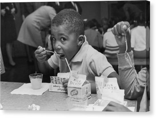 School Breakfast Canvas Print by Archive Photos