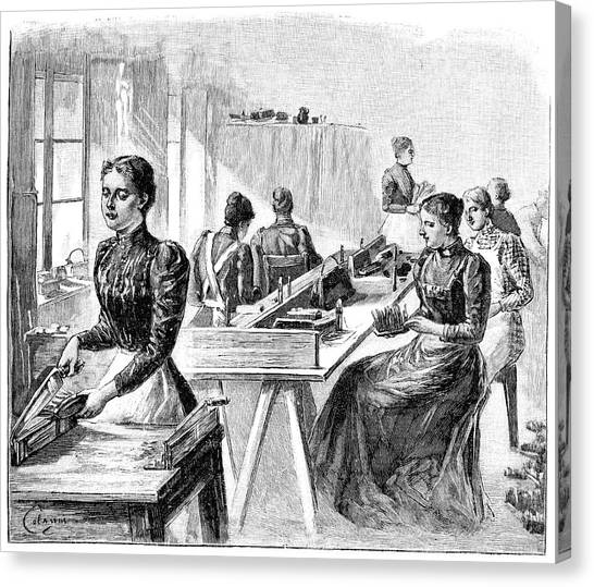 School For The Blind, 19th Century Canvas Print by