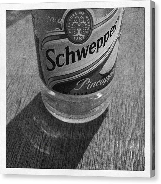 Juice Canvas Print - #schweppes #pineapple #drink #pub by Joe Trethewey