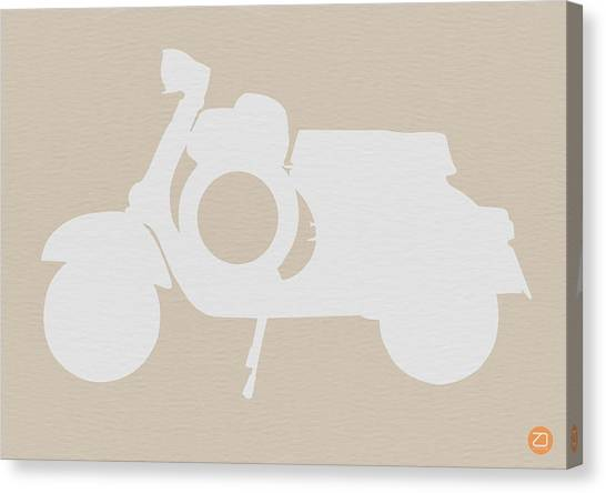 Minimal Canvas Print - Scooter Brown Poster by Naxart Studio