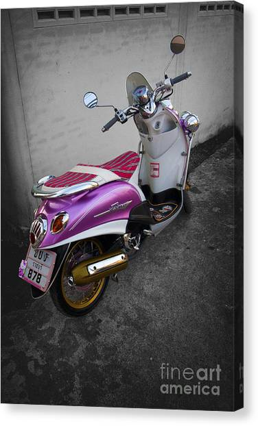 Scooter Power Canvas Print