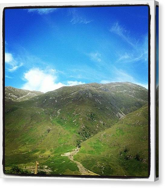 Salt Canvas Print - #scotland #green #grass #blue #sky by David Moffat