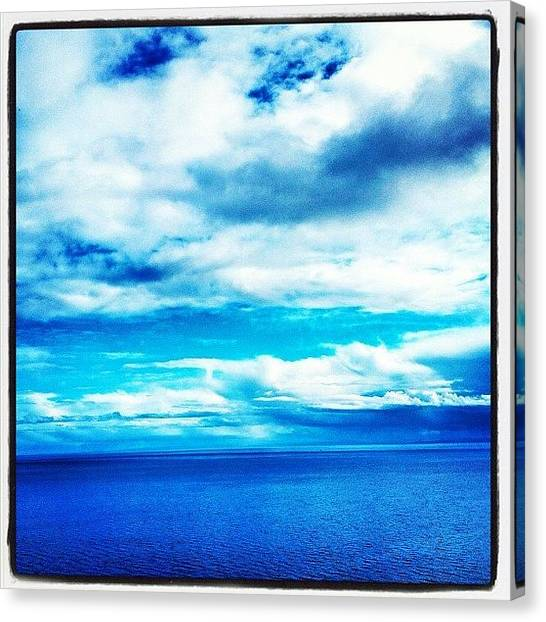 Salt Canvas Print - #scotland #water #blue #clouds #fresh by David Moffat