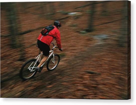 The University Of Tennessee Canvas Print - Scott Bennett Mountain Bikes by Stephen Alvarez