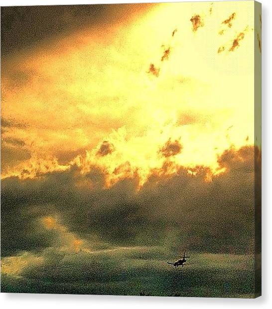 Jets Canvas Print - Scottsdale Clouds. And Private Jets by John Schultz