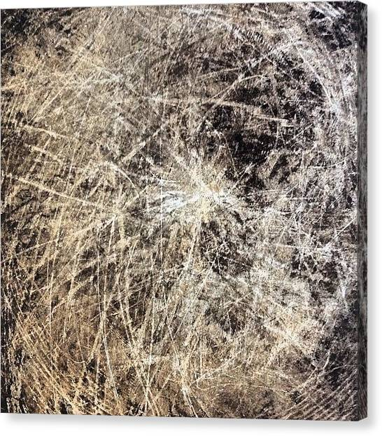 Metal Canvas Print - Scratched Metal by Nic Squirrell