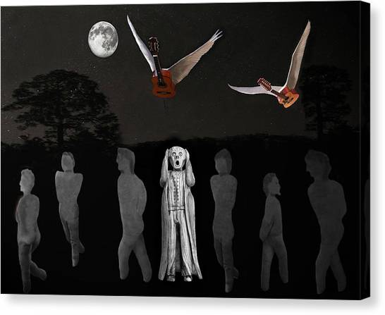 Scream I Love Rock And Roll Canvas Print by Eric Kempson