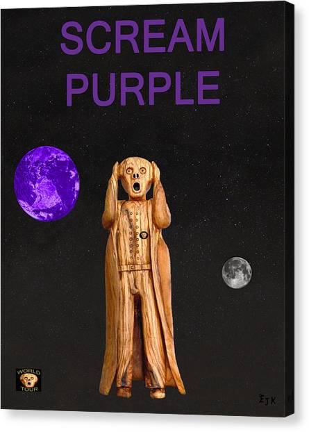 Scream Purple Canvas Print by Eric Kempson