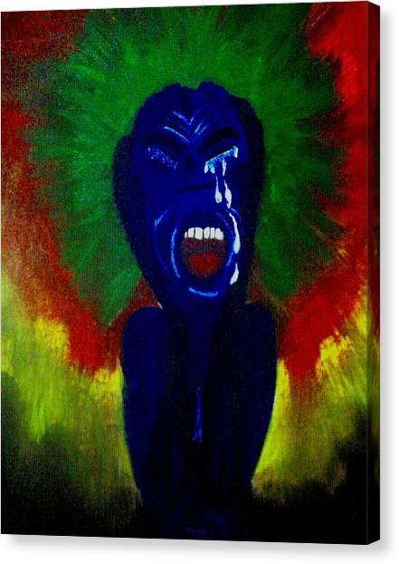 Scream Canvas Print by Violette L Meier