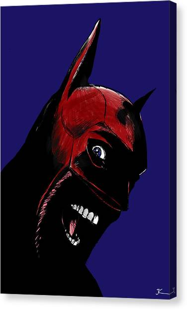 Crazy Canvas Print - Screaming Superhero by Giuseppe Cristiano