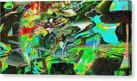 Screw Canvas Print by Dave Kwinter