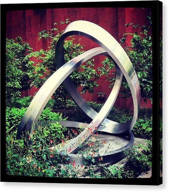 Libraries Canvas Print - Sculpture Outside The Nyu Bobst by Arnab Mukherjee