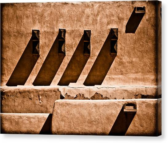 Canvas Print featuring the photograph Albuquerque, New Mexico - Scupper Beam by Mark Forte