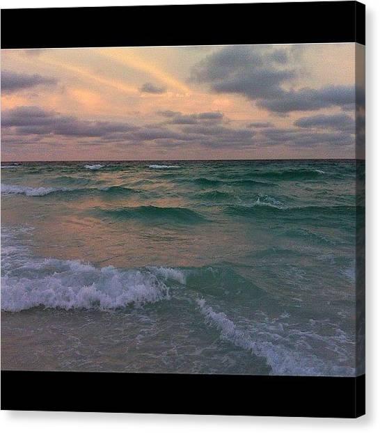 Social Canvas Print - #sea #ocean #beach #waves #water by Susan McGurl
