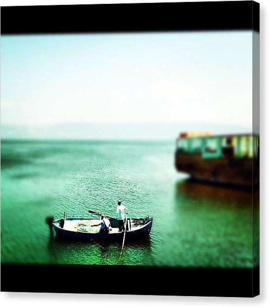 Israeli Canvas Print - Sea Of Galilee by Kim Cafri